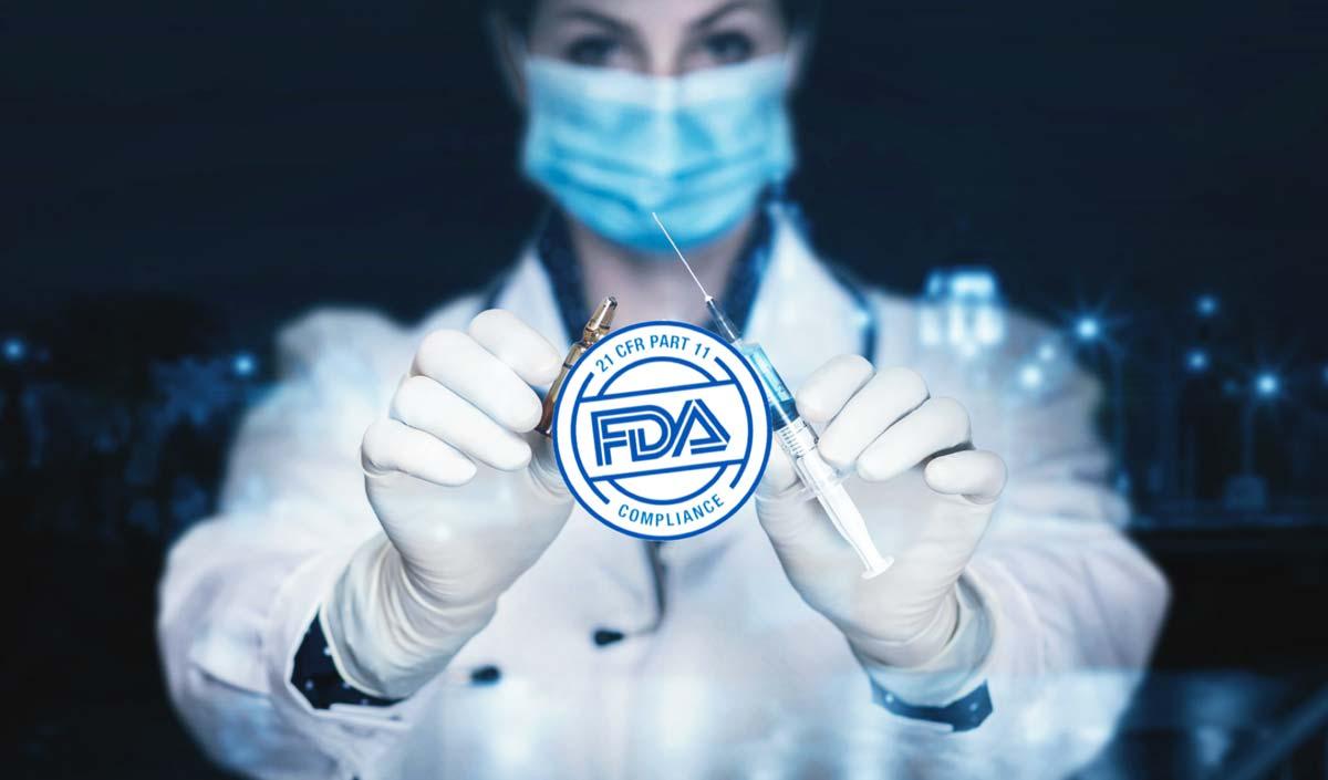 Software prova materiali conforme a CFR 21 parte 11 della FDA